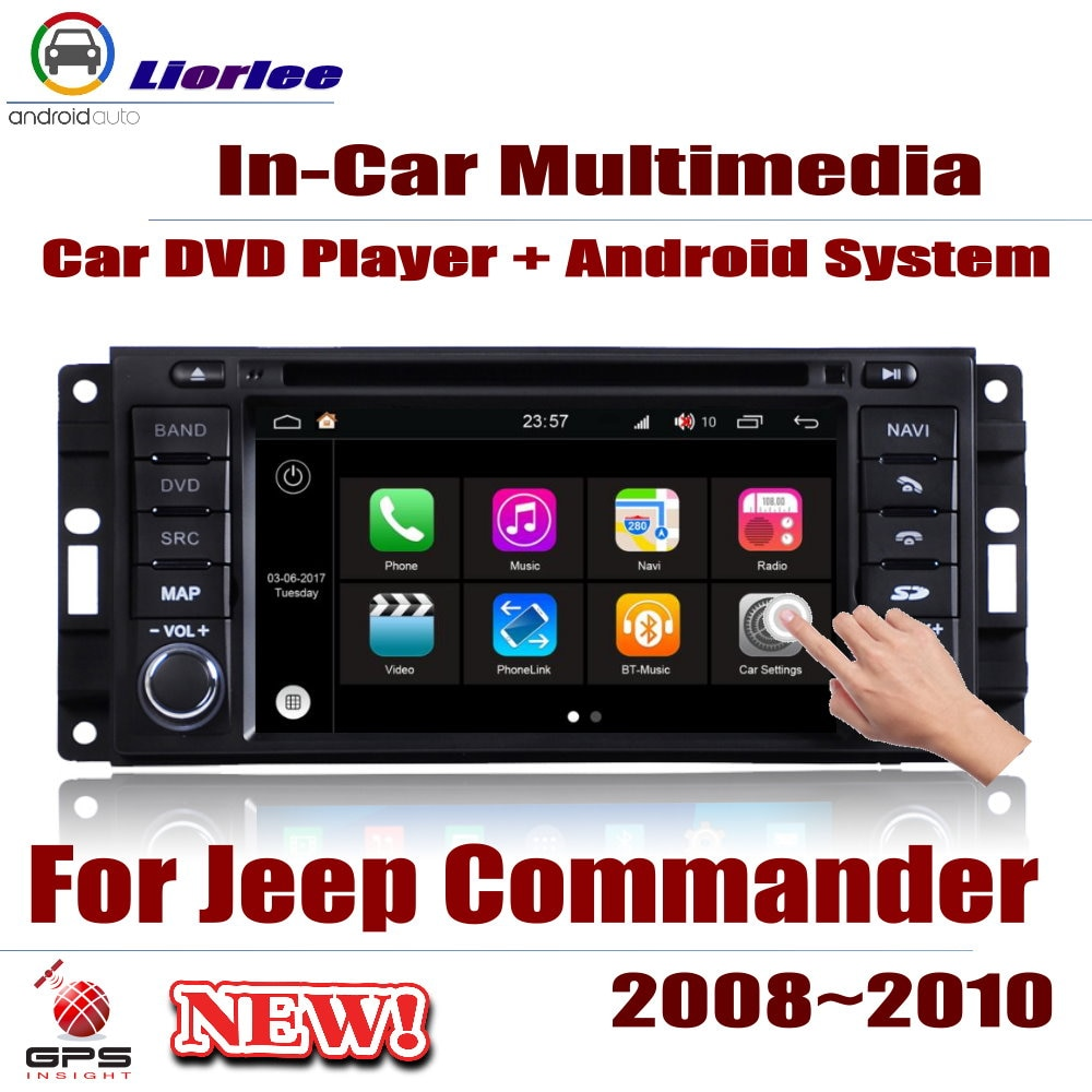 Coche DVD reproductor Multimedia para Jeep Commander 2006-2011 Android Radio Accesorios sistema...
