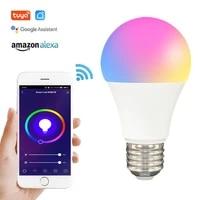Zigbee     ampoule LED RGB WiFi intelligente  fonctionne avec Alexa Google Home  Tuya Smart Life  fonction de minuterie reglable