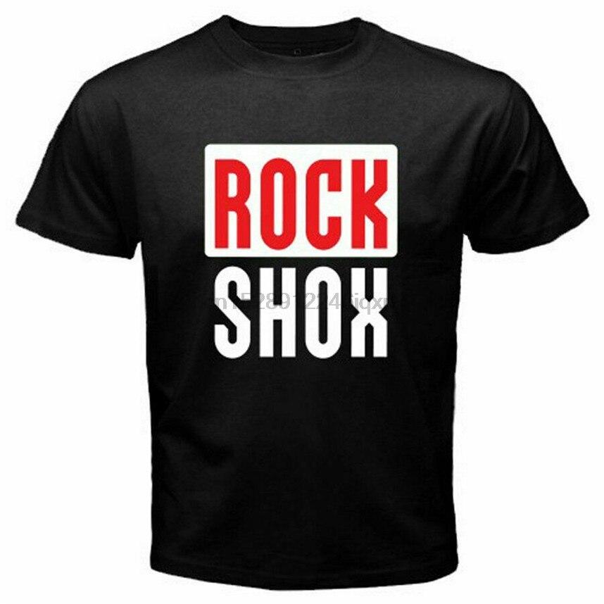 Rock Shox Logo montaña MTB bicicleta pegatina bicicleta Unisex negro camiseta S-5XL Cool regalo personalidad camiseta
