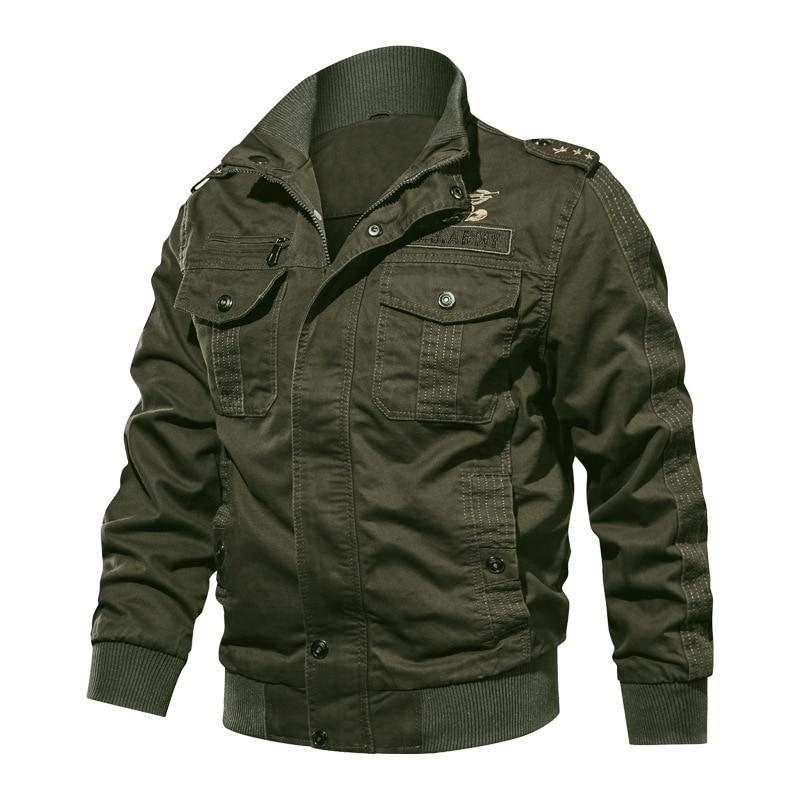 Мужская куртка повседневная хлопковая с отворотом мульти-карман военная куртка пилота мужская куртка мужская классическая Толстая Улична...