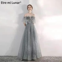 2021 new tulle colorful butterfly evening dresses sleeveless sweetheart neck lace upa line evening gown real photo ld04352