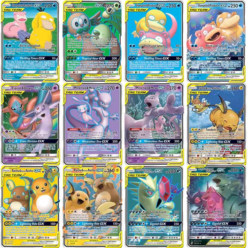 60 Teile/schachtel Pokemon Karten GX MEGA Booster Kühlen TAKARA TOMY Englisch Trading Schlacht Spiel Glänzende Karte Top Geladen Liste Geschenk kinder Spielzeug