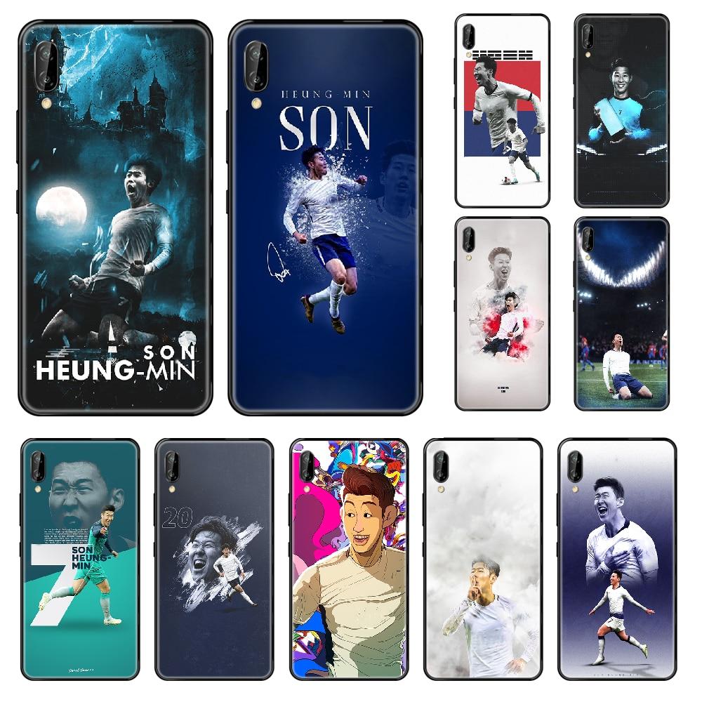 Funda de teléfono de Son heung-min para Huawei Honor Mate 5, 6, 7, 8, 9, 10, 20, A, C, X y Lite, funda bonita de lujo de Arte Negro