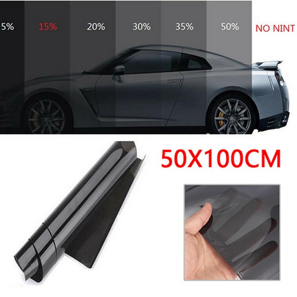100*50cm VLT Black Auto Home Glass Window Dye Film Roll With Scraper Car Accessories Tint Film Roll For Automative Window Film