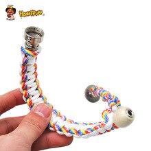 HONEYPUFF Metal Bracelet Smoke Smoking Pipe 260MM Jamaica Rasta Pipe Tobacco Smoking Hand Pipes Gift For Man Or Women