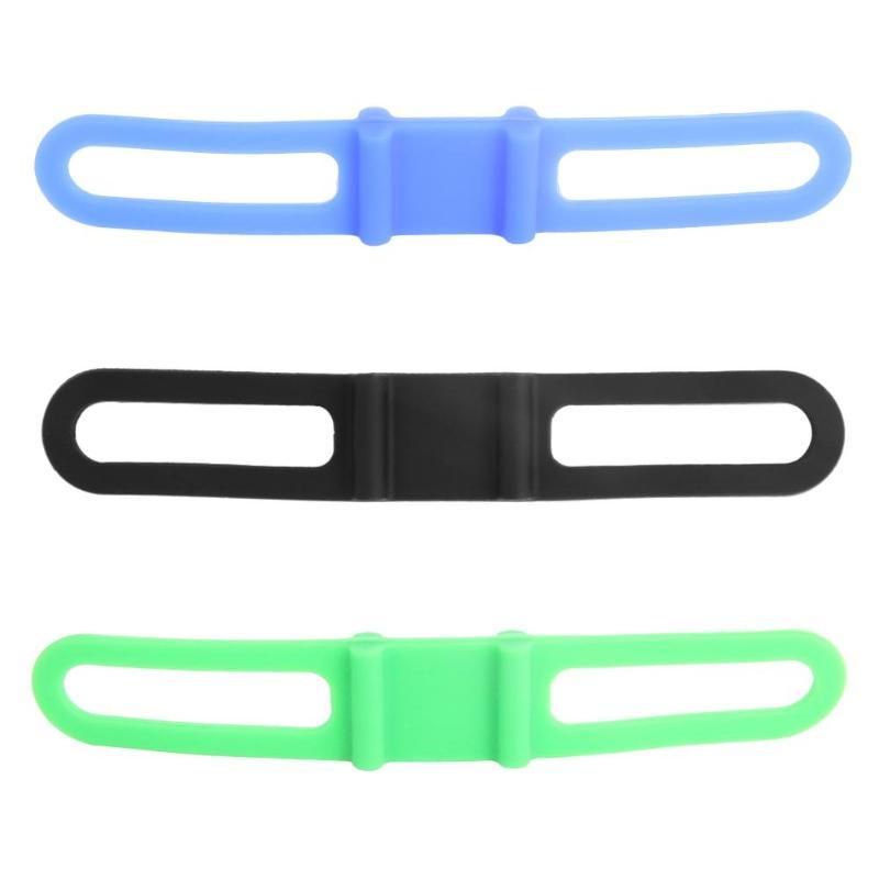 Clip de linterna de alta resistencia elástico de silicona fijo bicicleta manillar correas para bicicleta Clip de soporte para montura vendaje para teléfono móvil