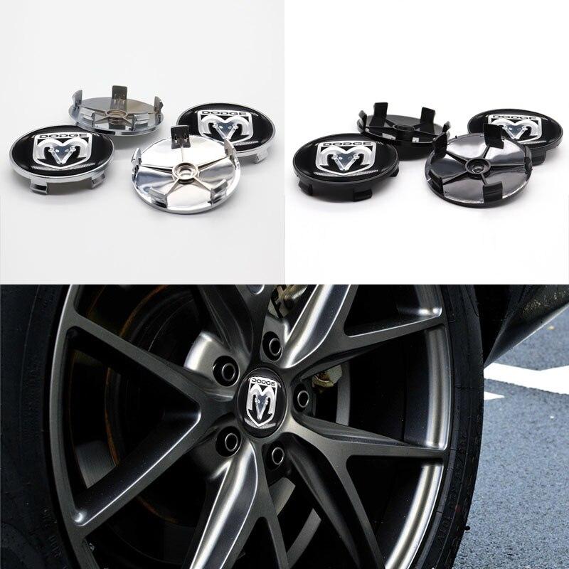Автомобильные детали, 4 шт., 60 мм, крышка ступицы колеса, наклейка на Центральное колесо, логотип автомобиля, подходит для DODGE-Персонализирова...