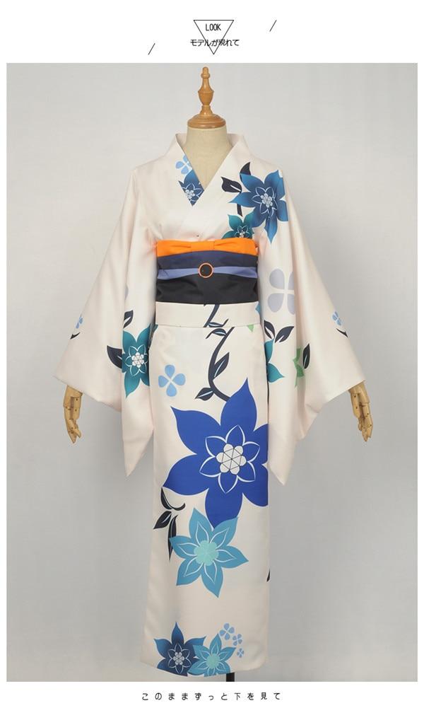 Lovelive Aqours Nishikino Maki Summer yukata kimono Halloween cospaly costume full sets A