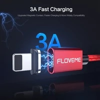 3a floveme magnetic micro usb cable for iphone samsung fast charging data wire cord magnet charger usb type c mobile phone cable