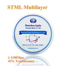 1 pièce STML 98x25mm 1100Mpa multicouche zircone prédécoupée livraison gratuite