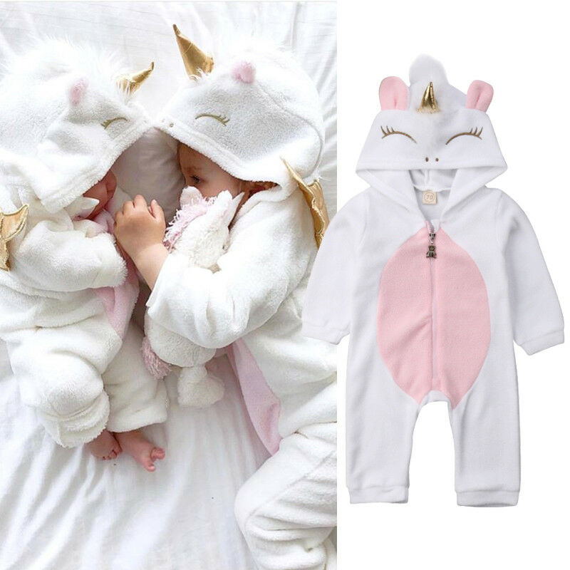 Pudcoco 2019 Marke Nette Neugeborene Baby Jungen Mädchen Kaninchen Ohr Baumwolle Romper Outfits Kleidung Winter Warme Lange Hülse Overall