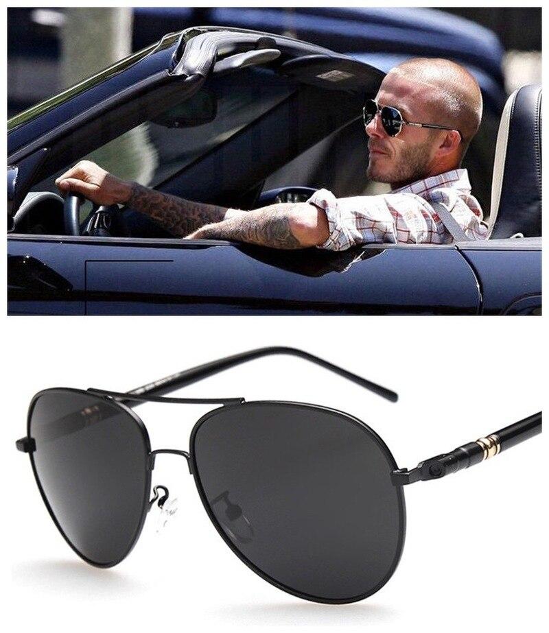 1PC Aviation Metail Frame Quality Oversized Spring Leg Alloy Men Sun glasses Polarized Design Driver