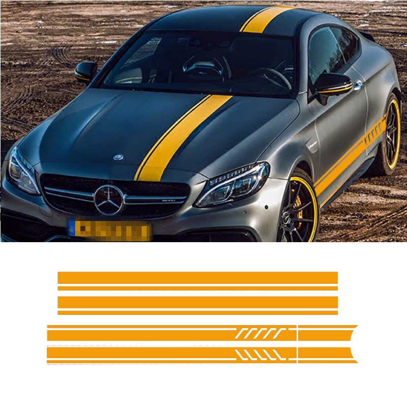 6 unids/lote pegatina de decoración del cuerpo del coche para Mercedes benz AMG A45 GLC45 GLA45 E63 E63S