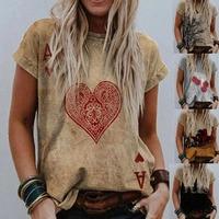 Женская летняя футболка, рубашка в винтажном стиле День Святого Валентина с принтом в виде сердечек с коротким рукавом футболки для девочек...