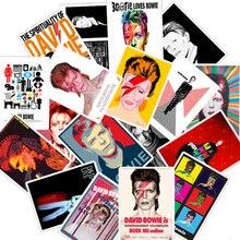 25Pcs Rock Singer DAVID BOWIE Stickers For DIY Guitar Luggage Fridge Laptop Skateboard Rock Music Waterproof Sticker Decals
