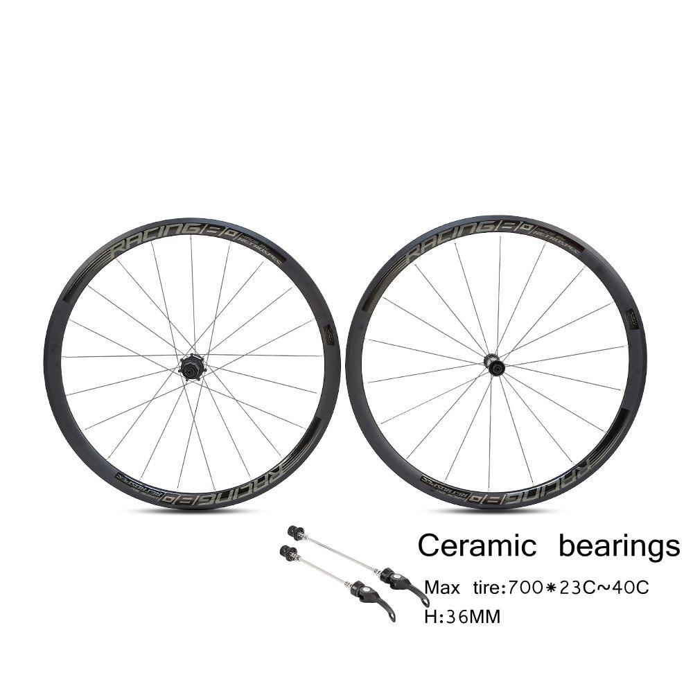 RETROSPEC AL36 керамические колеса для шоссейного велосипеда 36 мм Глубина 23 мм ширина клинчер алюминиевый сплав 700c колесная установка