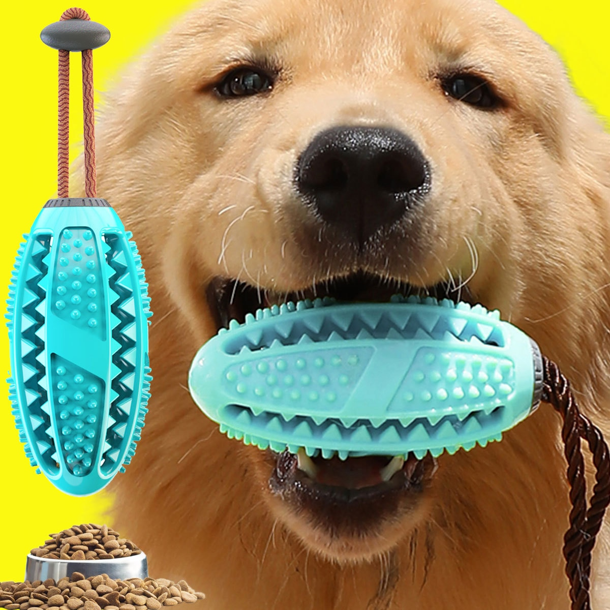 Popular Rubber Kong Dog Toy for French Bulldog Dog Teeth Brush Dog Chew Ball Interactive Pet Toys Labrador Teeth Cleaning Tools