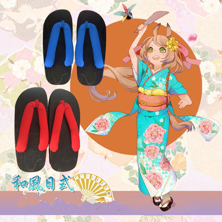 Rem et Ram zéro Anime chaussures japonaises pour femme en bois Geta sabots Cosplay Costumes Oriental ethnique Naruto pantoufle sandales