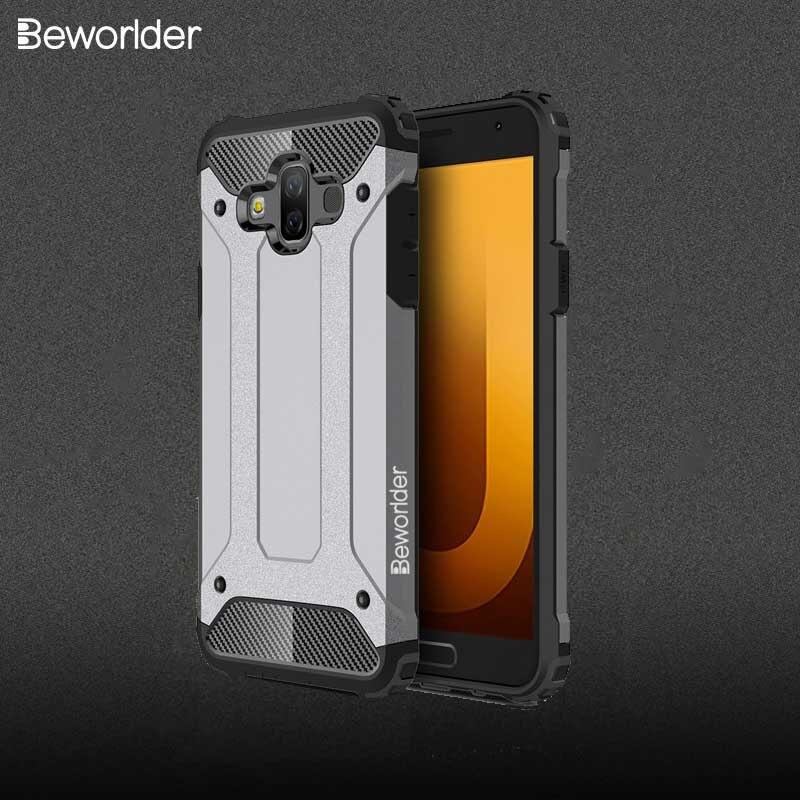 Fundas blindaje Beworlder para Samsung Galaxy J7 Duo, funda protectora de silicona para teléfono TPU + PC, funda a prueba de golpes para Samsung J7 Duo Cse