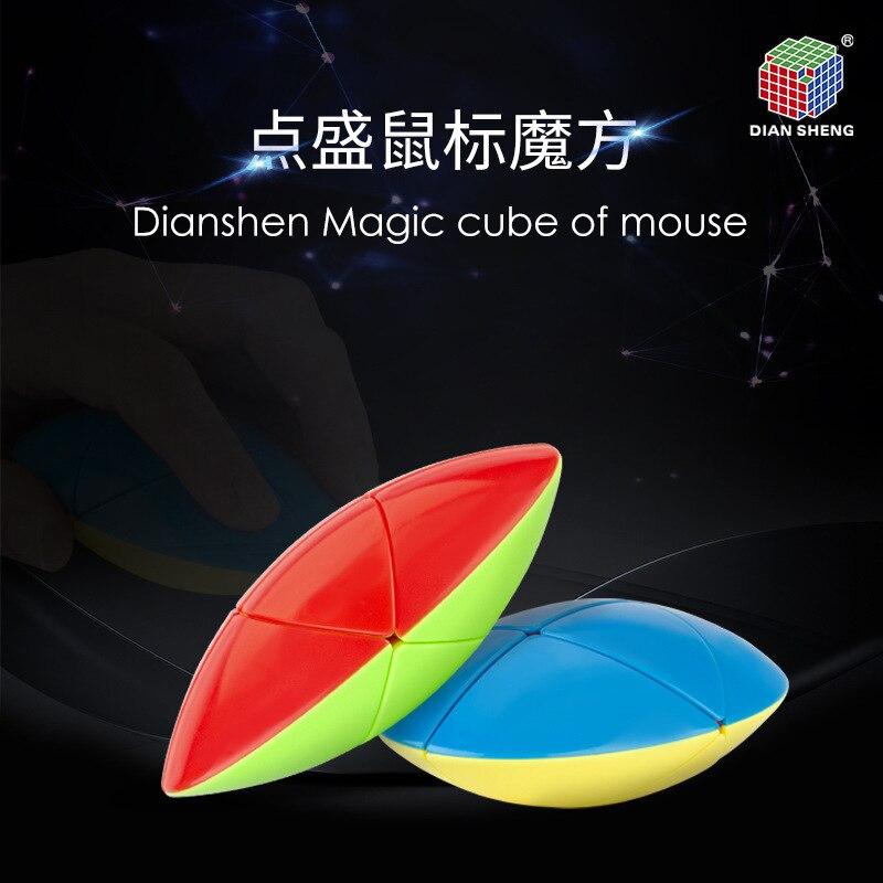 New DianSheng Magic Cube of Mouse Strange Shape Speed Magic Puzzle Twisty Brain Teasers Educational Learnning Toys
