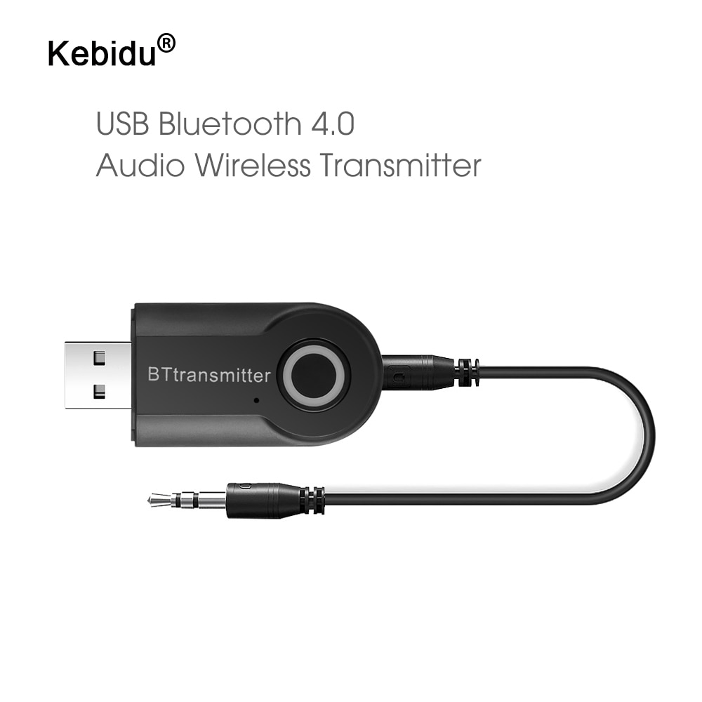 Transmisor Bluetooth kebidu 3,5 MM Jack adaptador de Audio inalámbrico Bluetooth 4,0 estéreo adaptador de transmisor de audio para auriculares TV