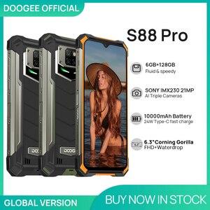 IP68/IP69K DOOGEE S88 Pro прочный мобильный телефон 10000 мАч телефон на процессоре Helio P70 Octa Core 6 ГБ Оперативная память 128 Гб Встроенная память Смартфон ...