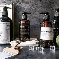 500ML bain bouteille rechargeable Gel douche shampooing presse bouteilles distributeur pour savon salle de bain stockage pot nordique lisse distributeur