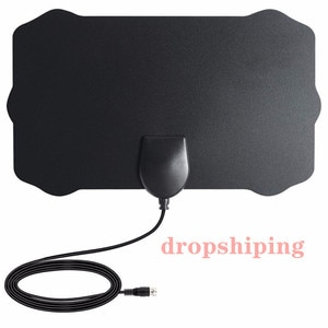 hengshanlao dropshiping Indoor Digital TV antenna 800 Miles Radius DVB-T2 isdb-tb satellite dish signal receiver white TV Aerial