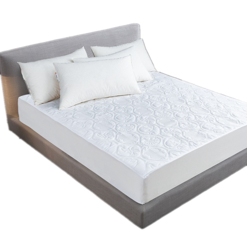 Funda de cama de Jacquard puro, Protector de colchón acolchado de felpa, resistente al agua, colchón Topper para cama antiácaros, Funda de colchón
