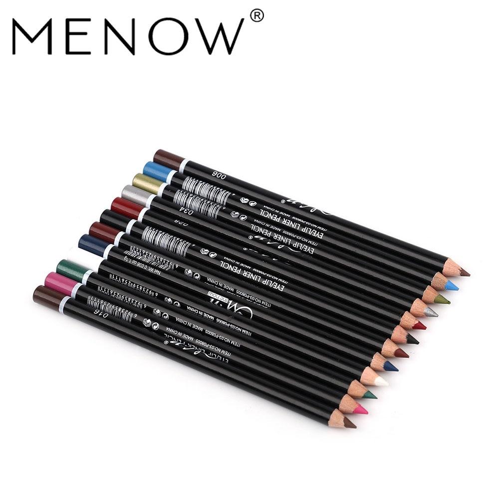 Фото - MENOW 12 шт./компл. Водостойкий карандаш для глаз карандаш для макияжа карандаш для глаз водостойкая Косметическая Ручка подводка для глаз кара... nyx карандаш для глаз