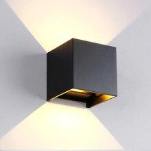 La lampe de mur imperméable en aluminium extérieure carrée / ronde de mur de la lumière 12W Dimmable a mené le salon dhôtel de projecteur, allumant AC85 ~ 265V