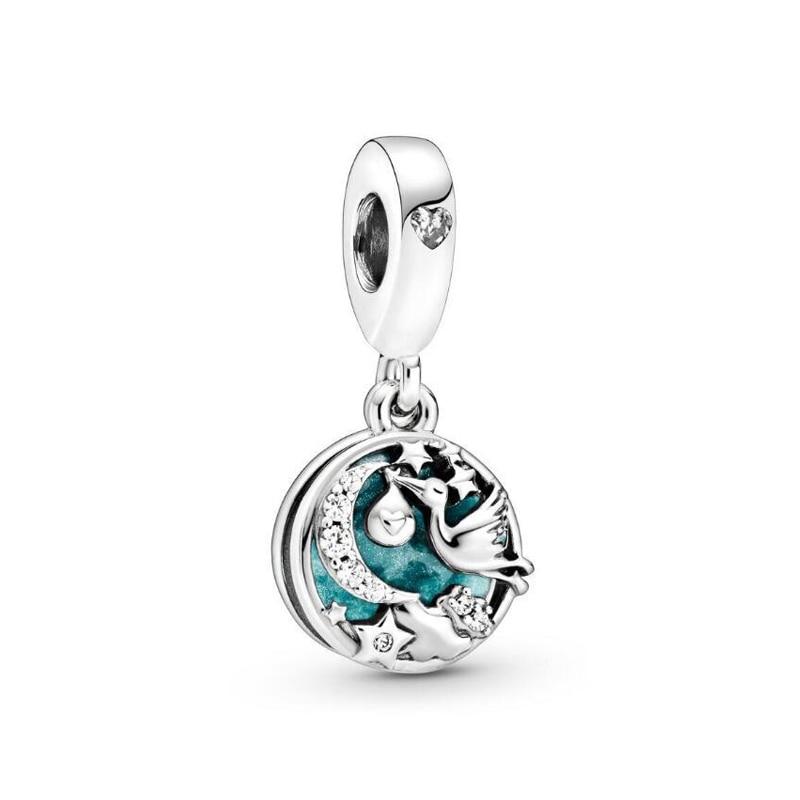 Real 925 prata esterlina encantos caber pandora pulseiras original cerceta pave daisy flor charme feminino jóias diy