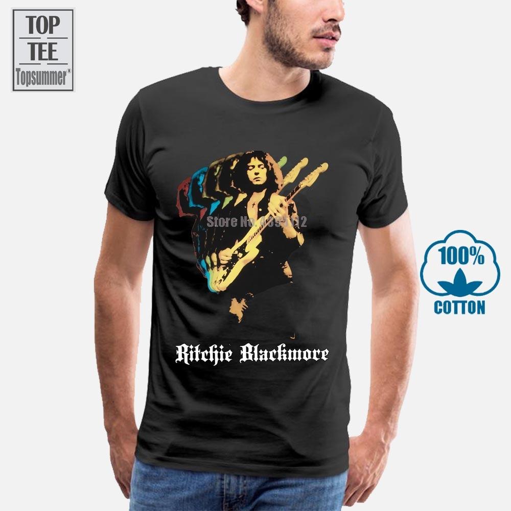 Ritchie Blackmore Solo arco iris púrpura profundo Rock N Roll Dio nuevo negro T Shirt