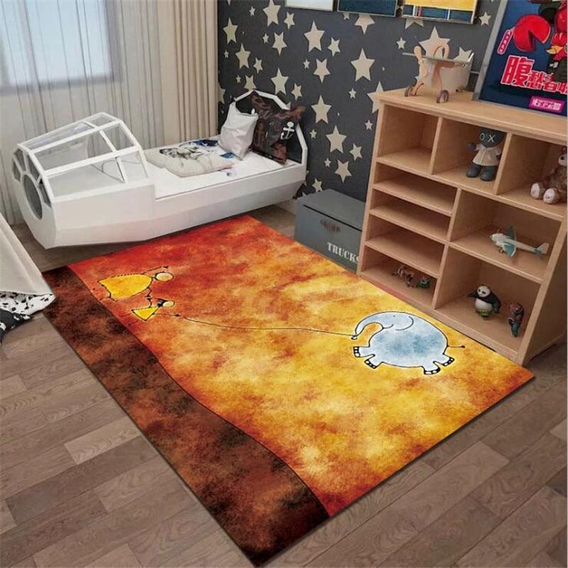 christmas baubles printed skid resistant rug Cartoon Elephant Anti-Skid Area Floor Mat 3D Printed Rug Non-slip Mat Dining Room Living Soft Carpet Kids Mat