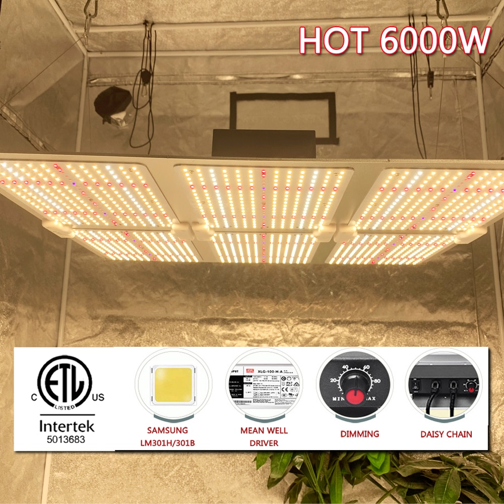Samsung LM301H LED Grow Light Quantum Tech Board 3000K 5000K 660nm IR 1000W 2000W Indoor Growth Phytolamp With Daisy Chain