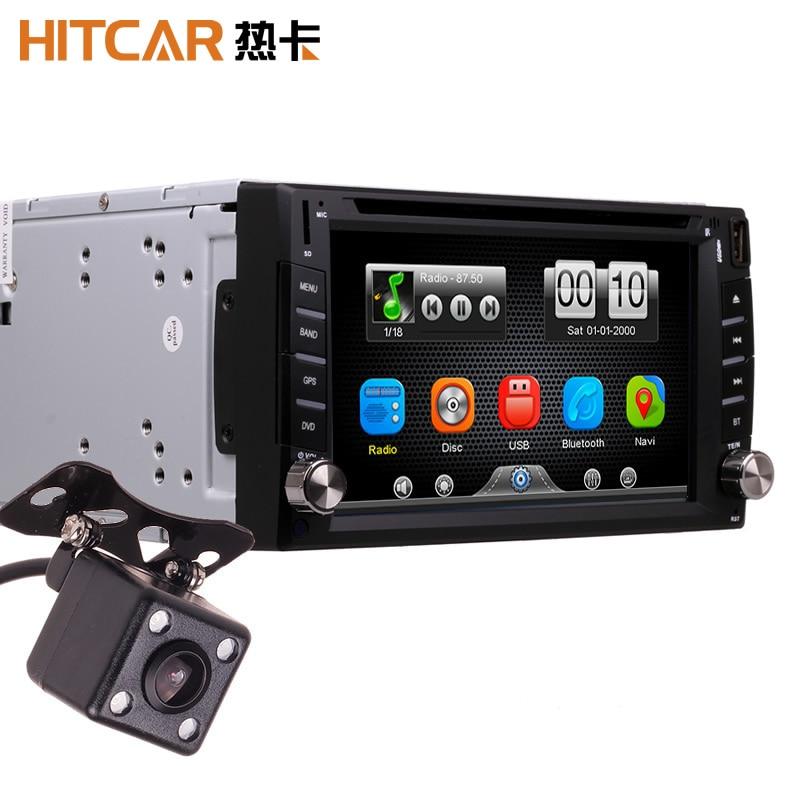Carro no traço 2din universal touch screen bluetooth rádio cd dvd mp3 vídeo media player unidade principal stereos (sem gps)