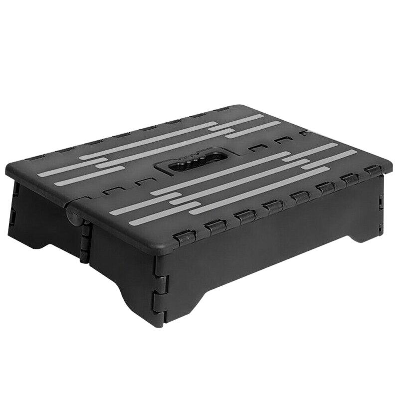Taburete plegable compacto de un solo paso antideslizante, silla plegable liviana portátil resistente