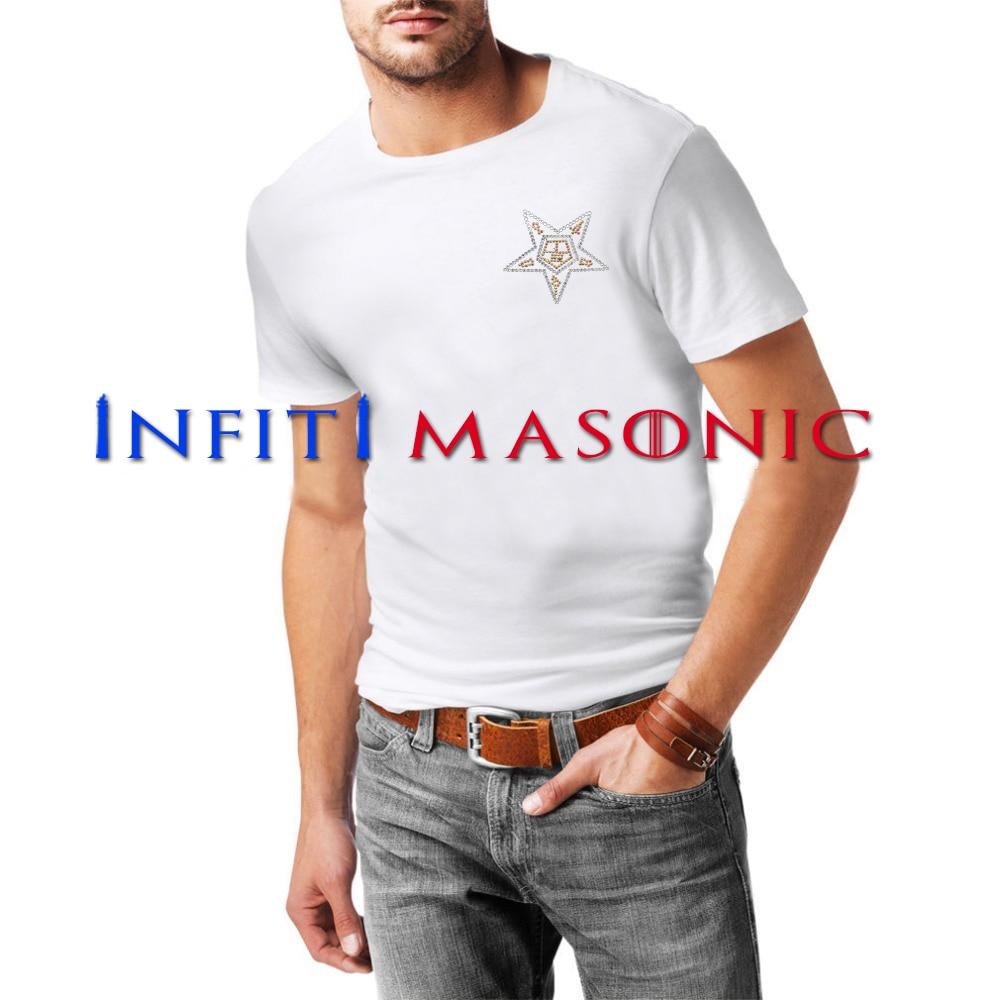 Camiseta para hombre de 32 ° grado de albañil alas masónica Hombre Camisetas Camiseta para ropa Popular camiseta cuello redon