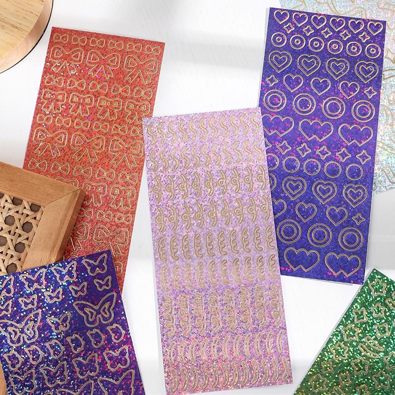 1-pz-shining-moment-series-adesivi-laser-decorativi-in-pvc-scrapbooking-stick-etichetta-diario-cartoleria-album-nastro-adesivo-fiocco