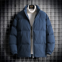 Winter Thicken Warm Parkas Male 2021 Chic Cotton Coats Hip Hop High Street All-match Casual Stand Co