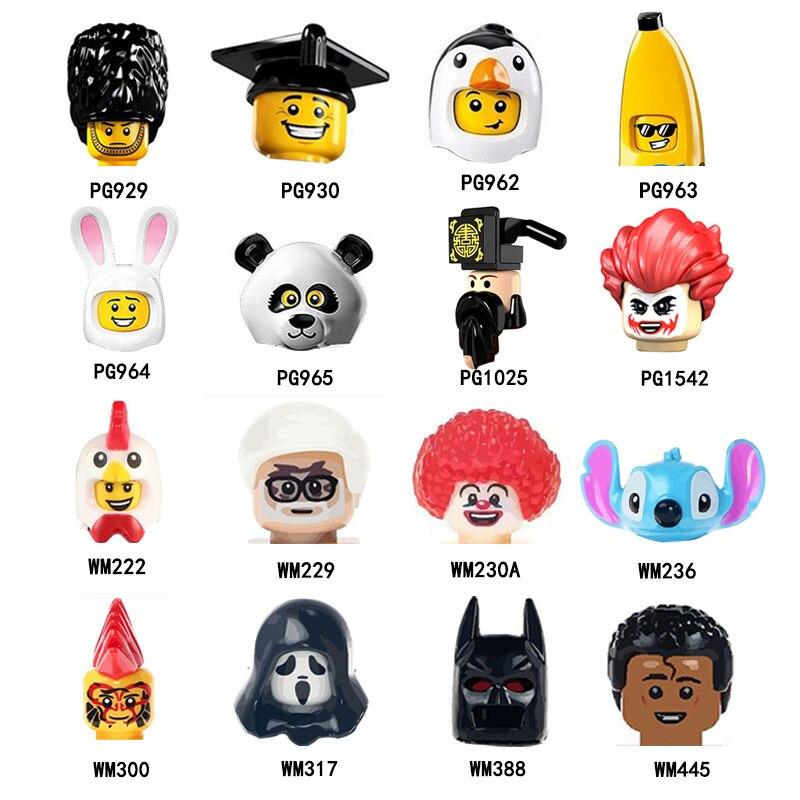 PG929 PG930 PG962 PG963 PG965 PG1542 WM203 фигурка головы MOC строительные блоки кирпичи обучающие игрушки для детей Подарки
