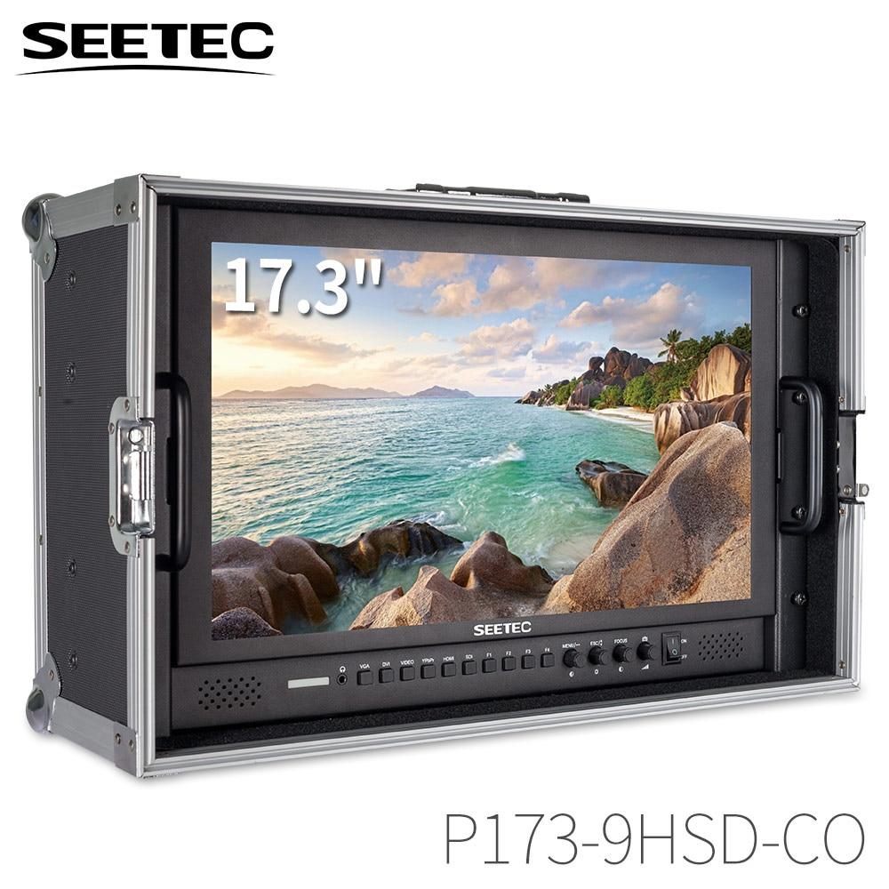 Seetec P173-9HSD-CO 17.3 بوصة IPS 3G-SDI HDMI رصد البث مع AV YPbPr تحمل على شاشة LCD مدير مع حقيبة