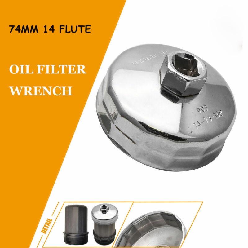 Filtr oleju samochodowego klucz Cap obudowa narzędzie Remover 74mm klucz obudowa ręczna narzędzie Remover akcesoria samochodowe dla Mercedes VW Audi
