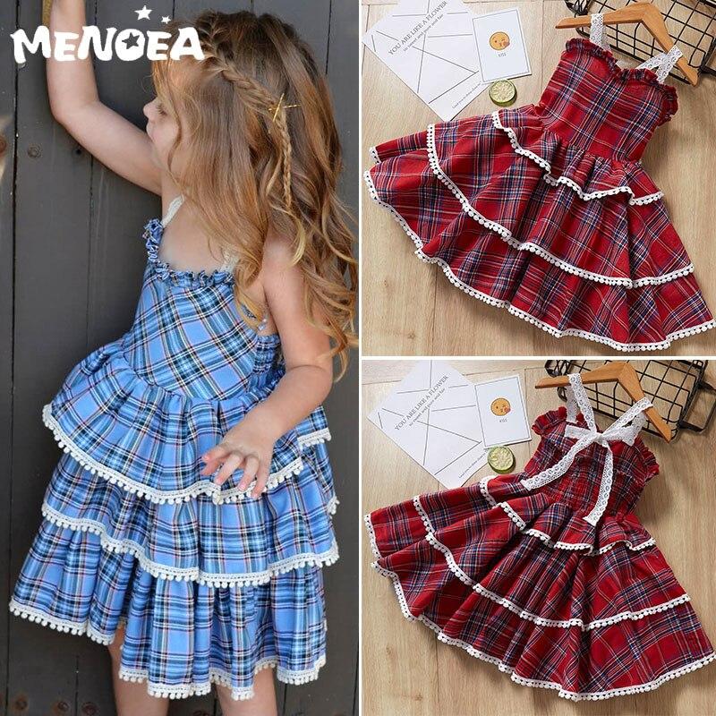 Vestidos Melario para niñas, vestido de princesa para fiestas de Primavera, ropa para niñas, estilo Lolita, patrón a cuadros, vestido para niños, ropa para niñas de 1 a 5 años