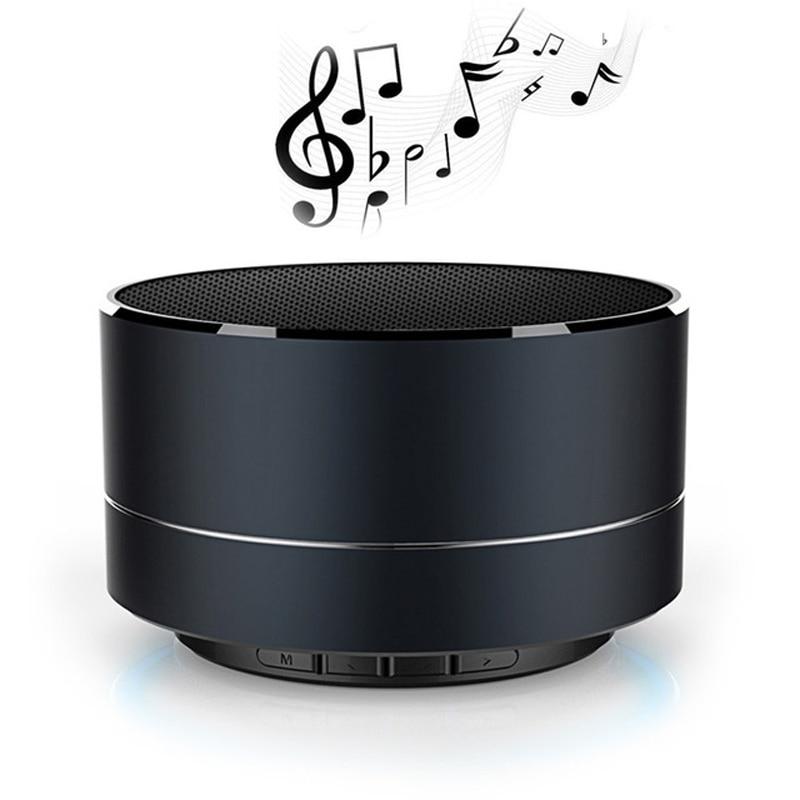 A10 LED Bluetooth Speaker Bass Mini Portable Speaker Subwoofer Sound box+Mic Support TF Card FM Radi