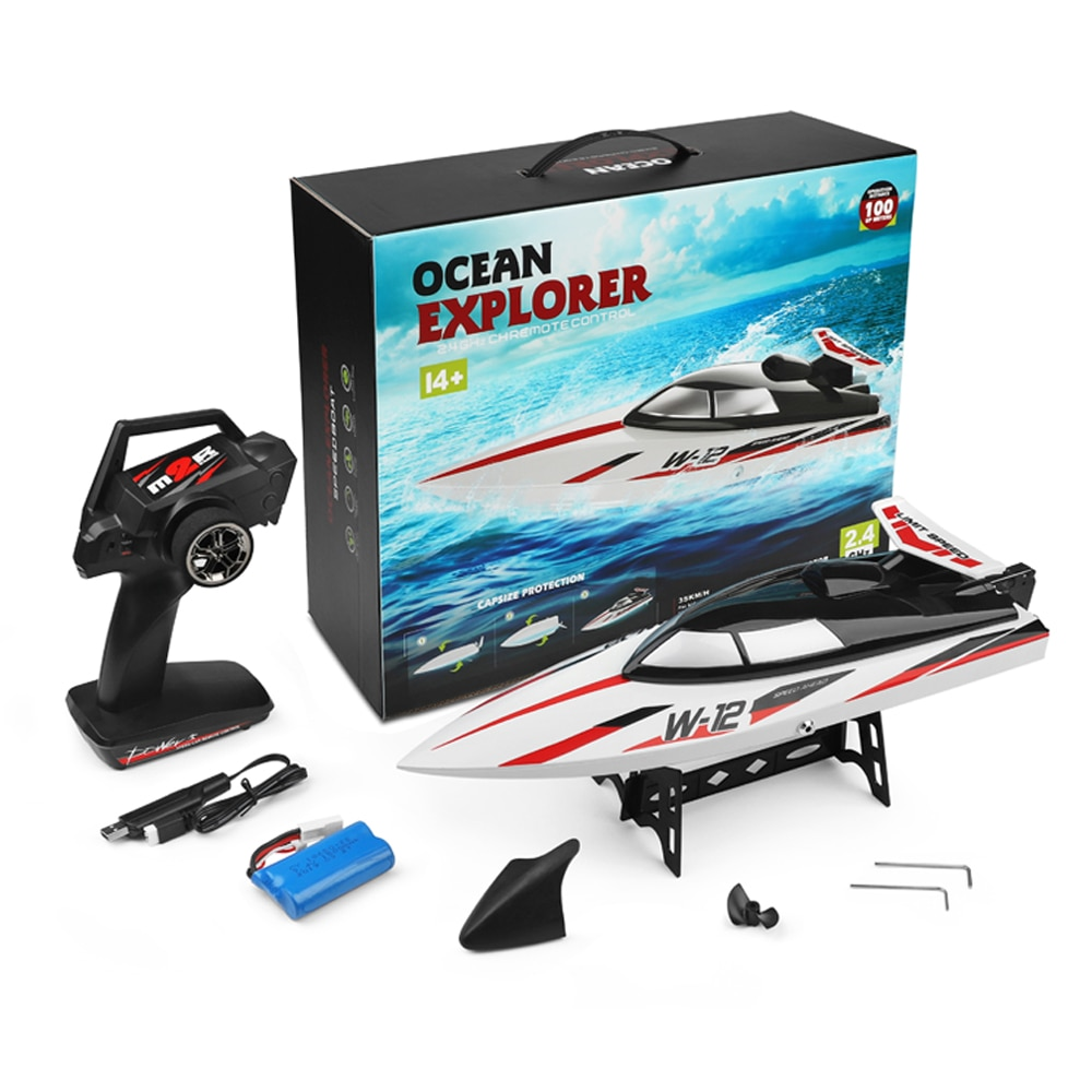 WLtoys WL912-A RC Boat 2.4G Radio-Controlled High Speed 100m Distance Water Cooling System RC Racing Boat Gift Water Toy For Kid