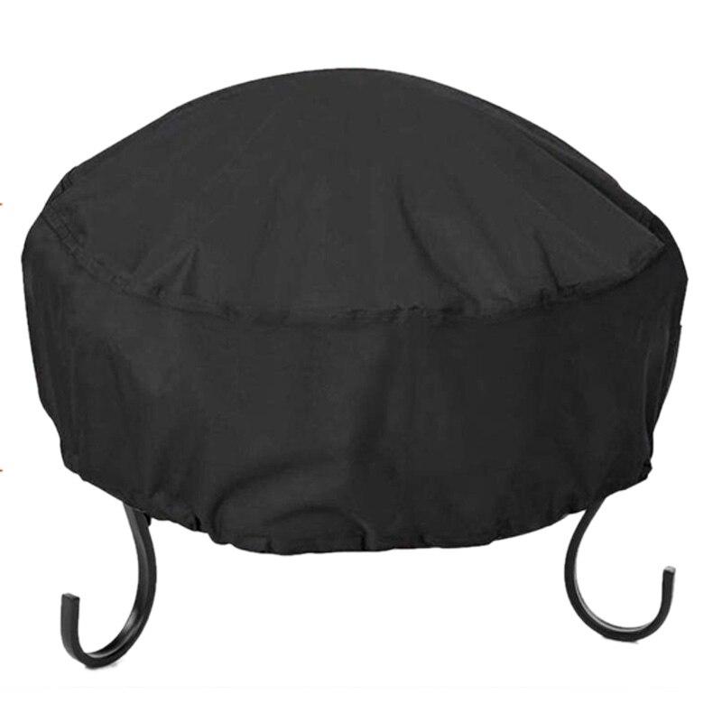Fuego Pit Cover redondo 34X16 pulgadas impermeable 210D Oxford tela resistente Patio redondo fuego cubierta de cuenco redondo firefit cubierta negro