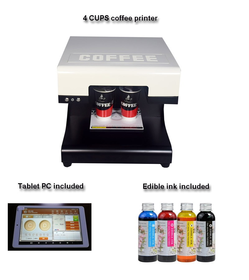Impresora de café capuchino para Selfie 3D con software de actualización de tableta
