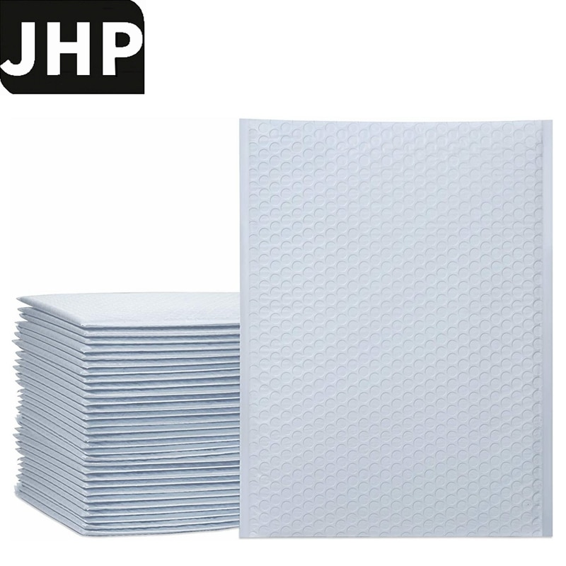25PCS White Color 9.5x13.5inch 10.5x15inch BIG Size Bubble Mailer Envelopes,Self Sealing Packing Bags With Bubble Lining