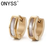 onyss fashion 14k gold plated hoop earrings for women wedding party jewelry